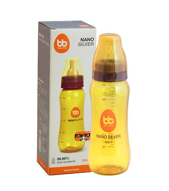 Bình sữa Nano Silver BB (cổ nhỏ) - không núm-250ml
